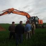 Przygotowanie dołka do wykonania profilu glebowego